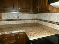 St. Cecilia Granite Backsplash Ideas | ST. CECILIA Granite on Dark Cabinets traditional-kitchen