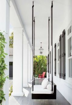 Modern Porch Swing | Heather Bullard  Brought to you by NBC's American Dream Builders, Hosted by Nate Berkus