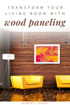 Considering a wood paneling makeover or painting your wood paneling walls? While wood paneling can age a room, you can transform your wood paneling into something chic and elegant with these tips, whether you decide to paint your wood paneling or embrace its natural look. Read about popular ways to embrace wood paneling in your decor like wood paneling in the bedroom, wood paneling in a living room or ceiling, incorporate a statement piece, or a shiplap look. Hadley Court Interior Design blog.