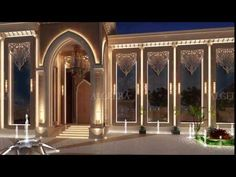 Home Decoration by ALGEDRA Interior Design - Abu Dhabi Find new luxury bedroom interior designs ideas for your home. Rustic Exterior, Modern Exterior, Exterior Design, Classic Architecture, Islamic Architecture, Interior Architecture, Villa Design, House Design, Interior Design Dubai