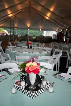 1950's Party Theme sockhop table centerpieces | The Prop Shop, Pittsburgh party and event rentals