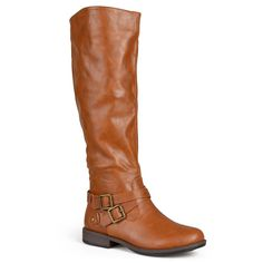 Journee Collection April Women's Tall Boots, Girl's, Size: medium (7.5), Lt Brown