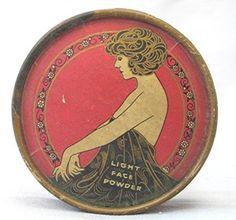 Vintage Art Nouveau Face Powder Box