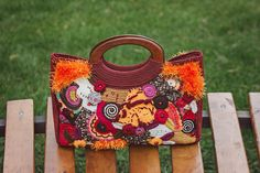 Ready for shipping! Original design by Veselunka. 100% Handmade crochet handbag. Zipper closure. Freeform crochet bag Сherry Garden is capacious and colorful. Womens crochet bag made with different yarn. Short handles bag are comfortable for everyday wear. Double lining. There is an inner