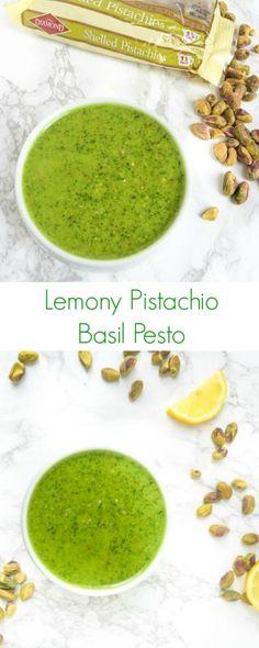Lemony Pistachio Basil Pesto - The Lemon Bowl