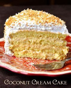 Coconut Cream Cake - inspired by a decades old family coconut cream pie recipe, this gorgeously light but luscious cake is a coconut lovers dream.