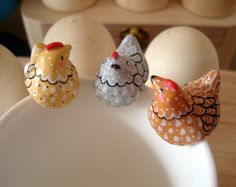 """Attache-thé """"Ma Poulette"""" oMamaWolf figurine en porcelaine froide coloris aux choix : Vaisselle, verres par omamawolf"""