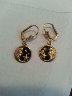 vintage moon and stars earrings - $18