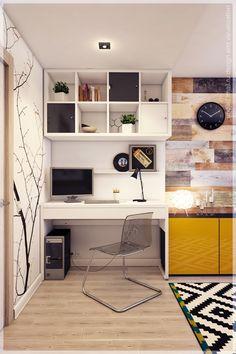 Bureau avec étageres au dessus                                                                                                                                                                                 Plus