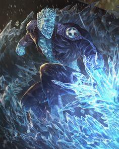 Iceman evo2, lie setiawan on ArtStation at https://www.artstation.com/artwork/JDxGz