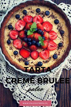 Tarta Creme Brulee z owocami (paleo)