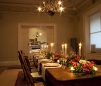 Designed by Event Scene #Adelaide.   Beautiful long #tablescape for a private dinner party.