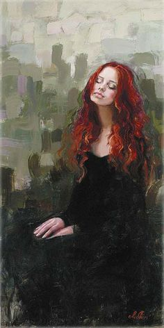 """Camie Davis"" - Such a beautiful portrait painting... This is the sort that I'd be willing to hang on my wall. :3"