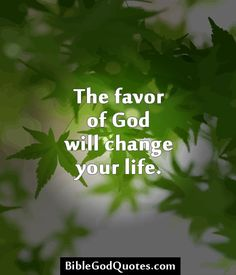 ✞ ✟ BibleGodQuotes.com ✟ ✞  The favor of God will change your life.