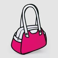 OMG I want this. From a line of bags that are made to look like they're from a cartoon!
