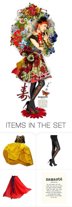 """Namaste: Peace to all ^TS"" by rosie305 ❤ liked on Polyvore featuring art, dollset and artdoll"