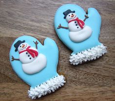 Christmas Cookies | Flickr - Photo Sharing!- snowmen on mittens