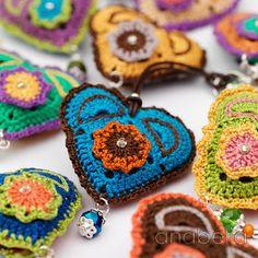 Crochet corazon llavero
