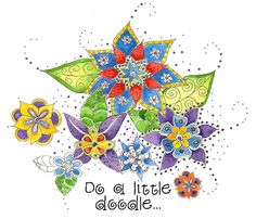 Do a little doodle... by Martha Lever