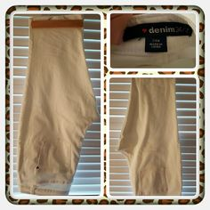 💕 EUC Woman's White Capri's Size 24W 💕 Like New Woman's White Capri's Size 24W From Woman Within Brand Is denim 24/7. These Were Worn Once Not Washed There's A Stain On The Back Pocket Where I Must Have Brushed Against Something Otherwise In Excellent Condition. Great For Spring & Summer 🚫 PAYPAL 🚫 TRADES 🚫 OFFERS AT THIS TIME PRICE IS FIRM 💕 Woman Within Pants Capris
