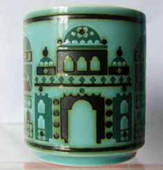 "Hornsea Pottery ""Cathedral"" Mug John Clappison 1976 Portmeirion Pottery, Storm In A Teacup, Hornsea Pottery, English Pottery, Kings Crown, Pyrex, Industrial Design, Heavenly, Cathedral"