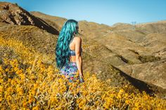 Young Wild & Free ♡♡ Alexa Halladay  》》Lady Scorpio wearing Spell & Gypsy Collective Flower Bandeau and skirt, wanderlust within the wildflowers of California ☥ ᐃ LadyScorpioblog.com