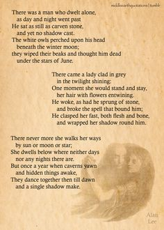Shadow-Bride~Tales from the Perilous Realm~The Adventures of Tom Bombadil ... simply a beautiful poem