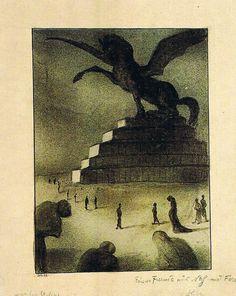 The Golden Age of Illustration Alfred Kubin, John Everett Millais, Legends And Myths, Scary Art, Yellow Art, Fantastic Art, Macabre, Art Techniques, Occult