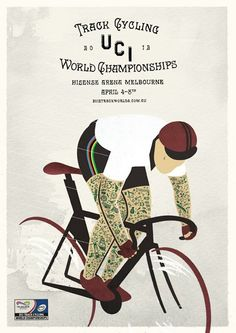 2012 UCI Track Cycling World Championships Bike Illustration, Graphic Illustration, Cycling Art, Track Cycling, Bike Tattoos, Bike Poster, Vintage Cycles, Design Poster, Graphic Design