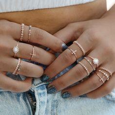 Ringe Boho Rue Gembon Milan Roségold Ring Set, 6 Steps to Tremendous Glossy Hand Jewelry, Cute Jewelry, Bridal Jewelry, Jewelry Sets, Silver Jewelry, Women Jewelry, Silver Rings, Jewelry Rings, Jewellery Uk