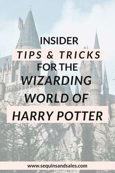 Insider Tips & Tricks for the Wizarding World of Harry Potter Harry Potter Universal, Universal Orlando, Harry Potter World, Lestrange Harry Potter, Bellatrix Lestrange, Theme Park Outfits, Places To Travel, Places To Go, Romeo Und Julia