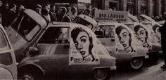 """Funny Face - Copenhagen Premiere 1959: 5 Isetta #cars transporting 5 top Danish Ballerinas to the Palladium #Theatre"""