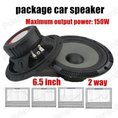 Authentic car 6.5 inch speaker package audio stereo speaker 2 way 2x150W best selling high quality