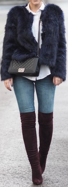Shoes: Lene Orvik Limited Edition - Bag: Chanel - Jacket: Gina Tricot - shirt: HM - Jeans: Bik Bok