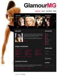 GlamourMG Model's Drupal Templates by Cowboy
