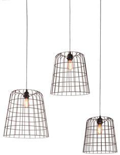 Asymmetrische hanglamp Light & Living Cora zwart 3 lichts