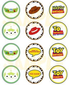 Toy Story Inspired Cupcake Toppers by EveRyThiNgBDay on Etsy, $4.00