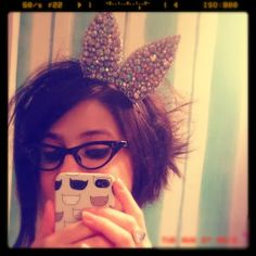 bling bunny ears by crown and glory