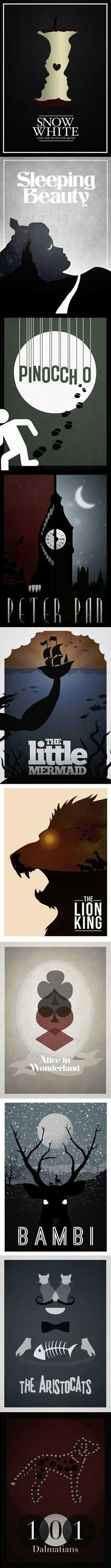 Simplistic Disney posters.