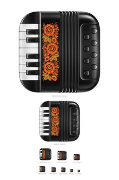 手风琴精美图标设计 - 视觉同盟(VisionUnion.com)