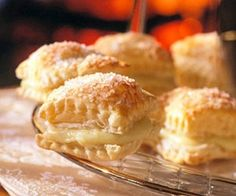 Frozen puff pastry sheets make these bite-size desserts easy to prepare.
