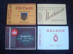 4 VINTAGE CIGARETTE PACKETS NORTHMAN NELSON OLD CASTLE MORRIS'S SILK CUT | eBay
