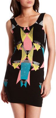 ShopStyle: Geometric Screen Print Dress