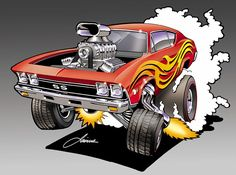 That is beautiful. Just curious. Why didn't you put snow on the roof and snow and ice cycles on the scoop. Looks like it was parked over the weekend lol. Cartoon Car Drawing, Car Drawings, Cartoon Pics, Cartoon Art, Cars Cartoon, Chevy Chevelle Ss, Arte Pink Floyd, Ed Roth Art, Cartoons Magazine