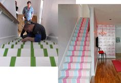 I love these stairs. I am thinking of doing this for the two sets of stairs going into the basement.