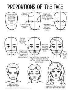 Drawing a Face: A FREE Sample - You can use this free guide to drawing a face using proportions to help your students get started on self-portraits or any type of portrait. I will eventually Self Portrait Kids, Portraits For Kids, Self Portrait Drawing, Drawing Art, Student Self Portraits, Drawing Portraits, Drawing Tips, Art Drawings, Drawing Faces For Beginners