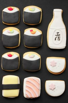 sushi cookie box