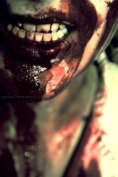 gnashing .....zombie next time more blood.