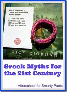 Greek Myths for the Century Children- Percy Jackson books and some quick activity ideas Percy Jackson Party, Percy Jackson Books, Must Read Novels, Books To Read, Ancient Myths, Ancient History, Common Core Ela, Library Activities, Best Children Books