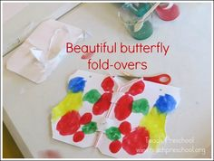 Beautiful butterfly fold-overs by Teach Preschool